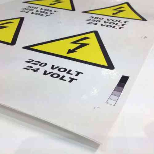 Adhesive sheets printed in color