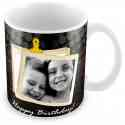 Personalized white mug in 3D